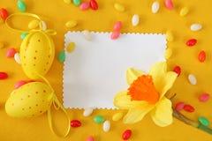 Tarjeta de felicitación de Pascua Fotografía de archivo