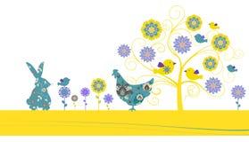 Tarjeta de felicitación de Pascua Fotos de archivo libres de regalías