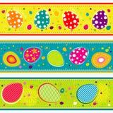 Tarjeta de felicitación de Pascua de la plantilla, cinta, vector Fotografía de archivo libre de regalías