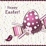 Tarjeta de felicitación de Pascua de la plantilla, cinta, vector Fotos de archivo