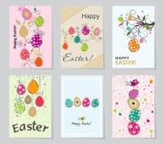 Tarjeta de felicitación de Pascua de la plantilla, ejemplo del vector Fotos de archivo