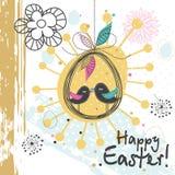 Tarjeta de felicitación de Pascua de la plantilla, ejemplo del vector Imágenes de archivo libres de regalías