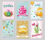 Tarjeta de felicitación de Pascua de la plantilla, ejemplo del vector Imagen de archivo libre de regalías