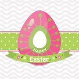 Tarjeta de felicitación de Pascua de la plantilla, polluelo, vector Imágenes de archivo libres de regalías
