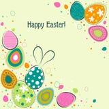 Tarjeta de felicitación de Pascua de la plantilla, vector Fotografía de archivo