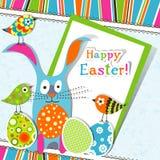 Tarjeta de felicitación de Pascua del modelo Foto de archivo libre de regalías
