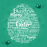 Tarjeta de felicitación de Pascua del modelo, vector Fotografía de archivo libre de regalías