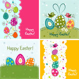 Tarjeta de felicitación de Pascua del modelo, vector Imagen de archivo libre de regalías