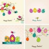 Tarjeta de felicitación de Pascua del modelo, vector Fotografía de archivo
