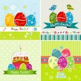 Tarjeta de felicitación de Pascua del modelo, vector Imágenes de archivo libres de regalías
