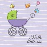 Tarjeta de felicitación del bebé Fotografía de archivo libre de regalías