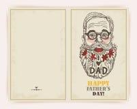 Tarjeta de felicitación del día de padre Imagenes de archivo