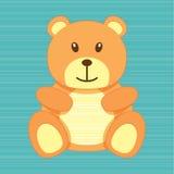 Tarjeta de felicitación del oso Imágenes de archivo libres de regalías
