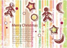 Tarjeta de felicitación del vector de la Navidad Foto de archivo