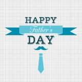 Tarjeta de felicitación feliz del vector del día de padre Imagenes de archivo