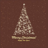 Tarjeta de felicitación. Feliz Navidad y Año Nuevo. Foto de archivo libre de regalías