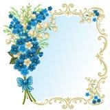 Tarjeta de felicitación linda Foto de archivo