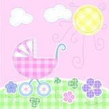 Tarjeta de felicitación linda del bebé Foto de archivo