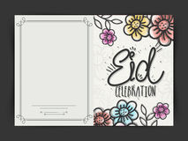 Tarjeta de felicitación para Eid Mubarak Fotografía de archivo