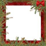 Tarjeta de felicitación para el día de fiesta, con una cinta roja Fotografía de archivo libre de regalías