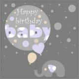 Tarjeta de felicitación para el niño del cumpleaños Fotos de archivo libres de regalías