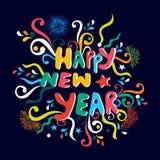 Tarjeta de felicitación para la celebración del Año Nuevo Fotos de archivo libres de regalías