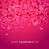 Tarjeta de felicitación para la celebración del día de tarjeta del día de San Valentín Imágenes de archivo libres de regalías