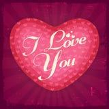Tarjeta de felicitación para la celebración del día de tarjeta del día de San Valentín Fotos de archivo
