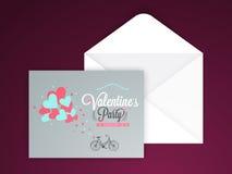 Tarjeta de felicitación para la celebración del día de tarjeta del día de San Valentín Imagen de archivo