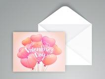 Tarjeta de felicitación para la celebración del día de tarjeta del día de San Valentín Foto de archivo libre de regalías
