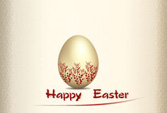 Tarjeta de felicitación para Pascua Foto de archivo