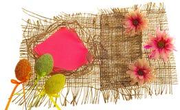 Tarjeta de felicitación scrapbooking de Pascua Imagenes de archivo