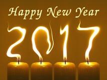 Tarjeta de 2017 felicitaciones de la Feliz Año Nuevo Imagenes de archivo