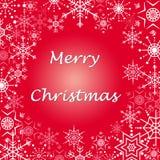 Tarjeta de felicitaciones de la Navidad Fotografía de archivo libre de regalías