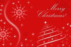 Tarjeta de felicitaciones de la Navidad Fotografía de archivo
