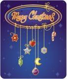 Tarjeta de felicitaciones de la Navidad Stock de ilustración