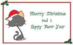 Tarjeta de felicitaciones de la Navidad Foto de archivo libre de regalías