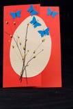 Tarjeta de felicitaciones de Pascua Foto de archivo libre de regalías