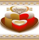 Tarjeta de felicitaciones del amor Fotos de archivo