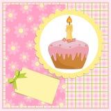 Tarjeta de felicitaciones del bebé para el cumpleaños Imágenes de archivo libres de regalías
