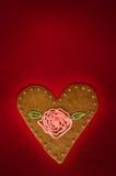 Tarjeta de felicitaciones del día de tarjeta del día de San Valentín Fotografía de archivo libre de regalías