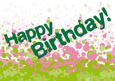 Tarjeta de felicitaciones del feliz cumpleaños Fotografía de archivo libre de regalías