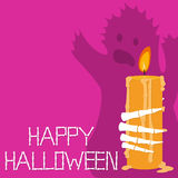 Tarjeta de felicitaciones del feliz Halloween Imagen de archivo