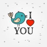 Tarjeta de felicitaciones feliz del día de tarjeta del día de San Valentín, etiquetas, insignias, símbolos Fotografía de archivo libre de regalías