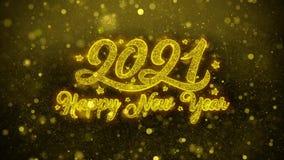 Tarjeta de felicitaciones de los deseos del Año Nuevo 2021, invitación, fuego artificial de la celebración libre illustration