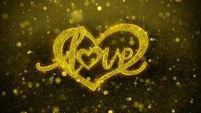 Tarjeta de felicitaciones de los deseos del corazón de día de San Valentín del amor, invitación, fuego artificial de la celebraci libre illustration