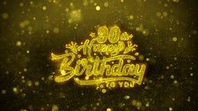 90.a tarjeta de felicitaciones de los deseos del feliz cumpleaños, invitación, fuego artificial de la celebración libre illustration