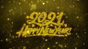 Tarjeta de felicitaciones de los deseos de la Feliz Año Nuevo 2021, invitación, fuego artificial de la celebración libre illustration