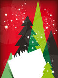 Tarjeta de felicitaciones moderna de la Navidad Foto de archivo libre de regalías