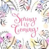 Tarjeta de fichar de la primavera Fotografía de archivo
